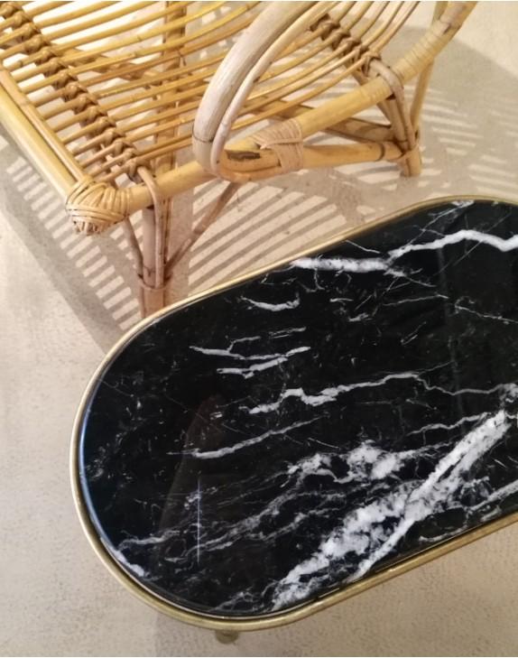 La capsule marbre noir laiton