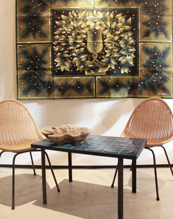 Table céramique bleu-3