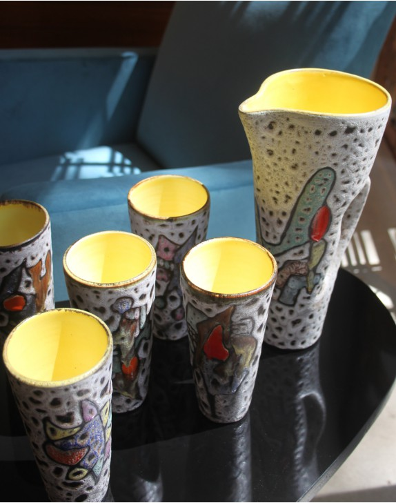 Service à Orangeade en céramique
