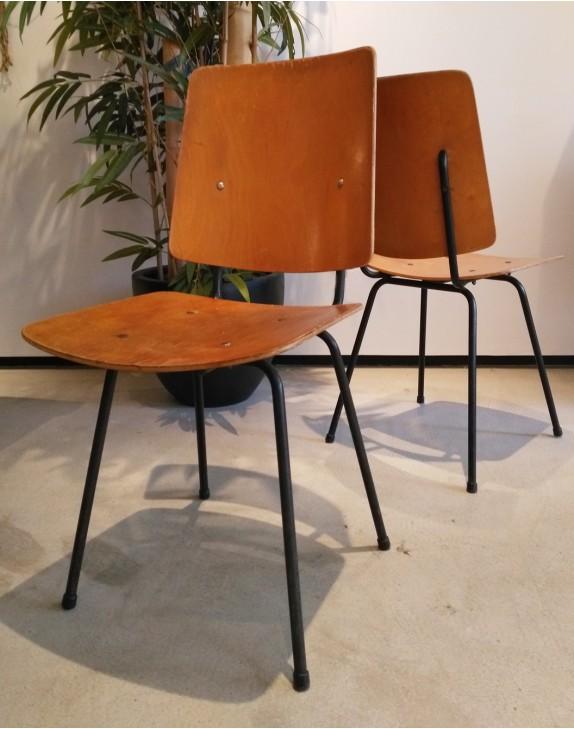 Chaise bois et métal