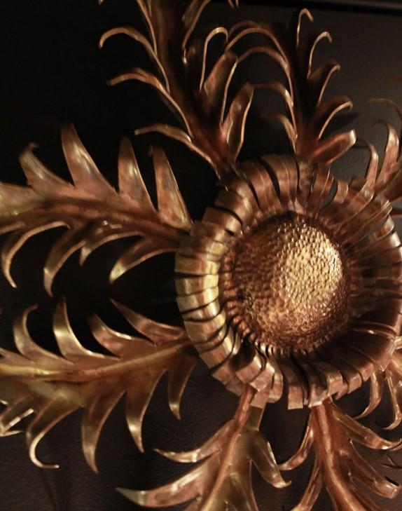 Fleur en bronze