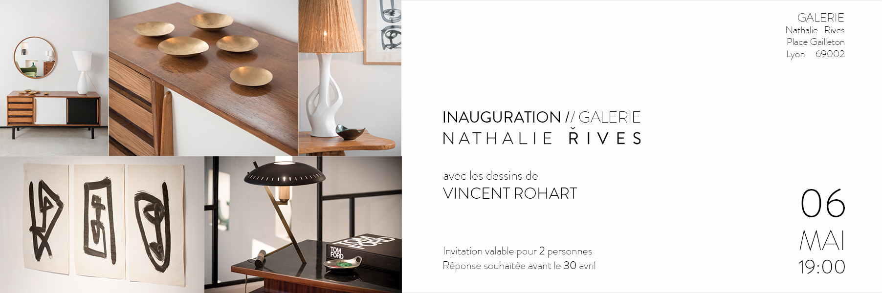 Inauguration Galerie Nathalie Rives